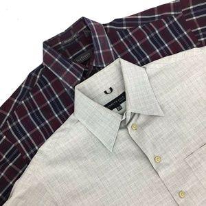 Other - Lot of 2 Mens Dress Shirts VanHeusen K.Cole Size M